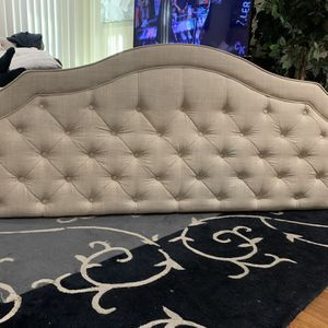 New Beige King Size Upholstered Headboard for Sale in Montebello, CA