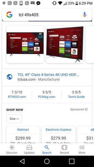 49 inch tcl tv with roku for Sale in Fort Collins, CO