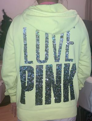 Victoria's Secret hoodie with sequin lettering for Sale in Chandler, AZ