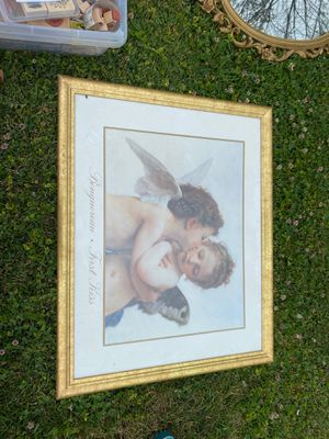 Very large cherub angel framed art piece for Sale in Seven Valleys, PA