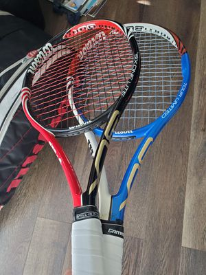 Wilson Tennis Racquets (2) and Backpack (1) for Sale in Chicago, IL