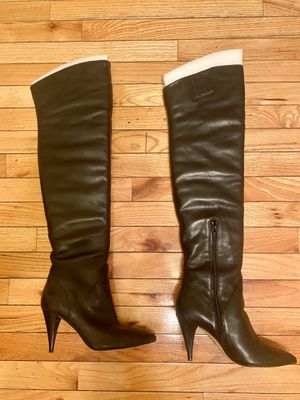 Aldo Tall Leather Women Boots: Black Size 7.5 for Sale in Queens, NY