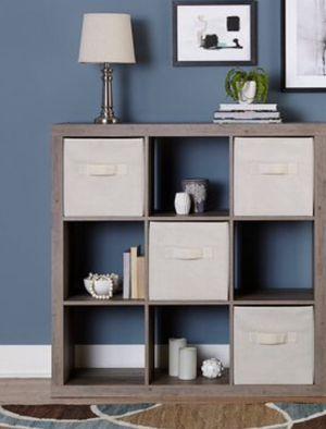 New!! Bookcase, 9 cube bookcase, bookshelves, organizer, living room furniture, storage unit , rustic gray for Sale in Phoenix, AZ