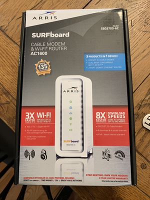 Cable modem and wifi router for Sale in Alexandria, VA