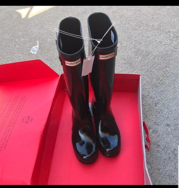 Women Hunter boots gloss size 8