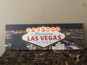 3Ft light up Vegas picture $40 / trade for Sale in Los Angeles, CA