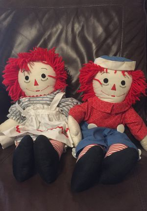"Raggedy Anne and Andy Dolls - 18"" inch tall for Sale in Las Vegas, NV"