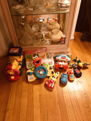 Toddler Toys, Elmo steering wheel, little radio, mini guitar, Percussion Plane, pop up pals, etc for Sale in PA, US