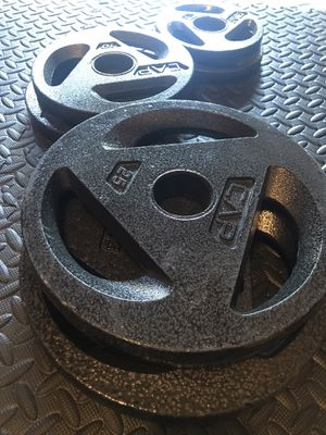 """Olympic weight set 2"""" 2x25 2x10 2x5 for Sale in San Leandro, CA"""
