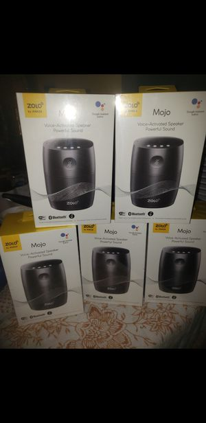 25.00 each google assistance built in Voice activated speaker Bluetooth wifi certified Google home app Streaming music bluetooth Chromecase built in for Sale in San Antonio, TX