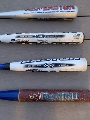Softball and baseball bats for Sale in Washington, PA