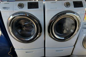 """""""SAMSUNG"""" FRONTLODER MATCHING SET WASHER & ELECTRIC DRYER ULTRA KING SIZE CAPACITY 5.O cu ft for Sale in Phoenix, AZ"""