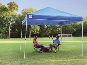 Z-Shade 10' x 10' Angled Leg Instant Shade Canopy Tent Portable Shelter, Blue for Sale in Pomona, CA