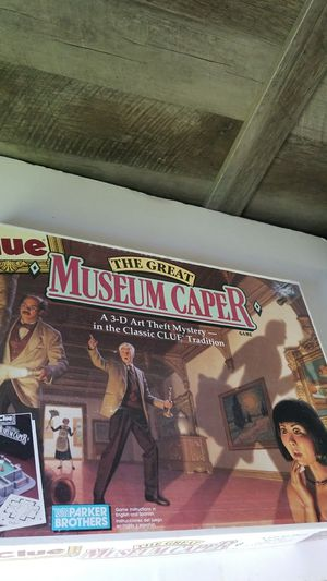 Clue the great museum caper board game for Sale in Cooper City, FL
