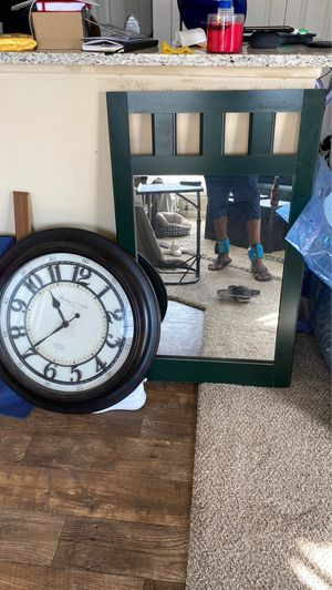 Wall clock and mirror for Sale in Benbrook, TX