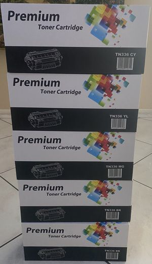 New Brother TN336 Premium Toner Cartridges ( 5 Pack) 2 Blacks for Sale in Doral, FL