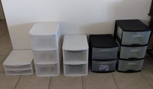 Plastic Storage Drawers for Sale in Barstow, CA