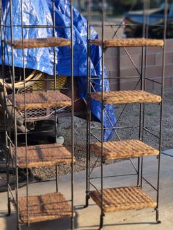 Beautiful Whicker And Metal Shelves for Sale in Glendale,  AZ