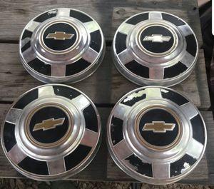 4 original chevy hub caps for Sale in San Antonio, TX