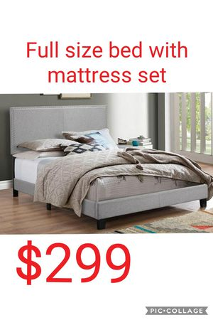 Full size bed with mattress for Sale in Las Vegas, NV