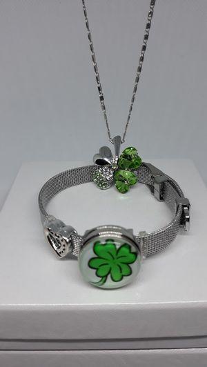 Shamrock Bracelet and Necklace set for Sale in Jacksonville, FL