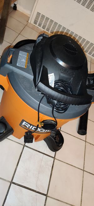 Ridgid 12 gallon dry/wet shopvac for Sale in Queens, NY