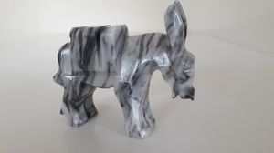 Hand-Carved Polished Light Gray Marble Donkey Figurine for Sale in Plainfield, IL