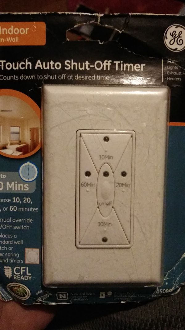 GE touch Auto shut-off timer countdown to shut off at desired time up to 60 minutes