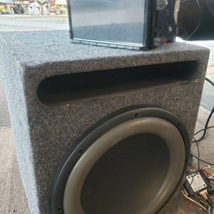 Complete Car Audio System: Stereo & SubWoofer, Capacitor, Epicenter, and Amplifier (Sold Together) for Sale in San Diego, CA