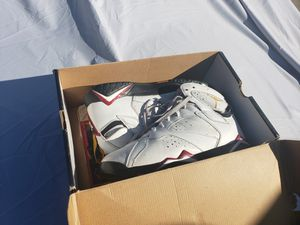 Pair Of Nike Basketball Shoes Cardinals Air Jordan Retro 7 Size 11 With Box for Sale in Rancho Cucamonga, CA