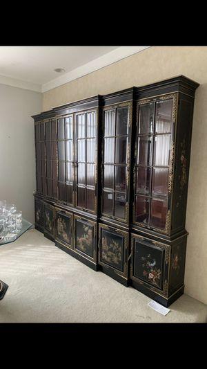 Antique black china cabinet for Sale in Detroit, MI