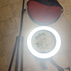 "❗️16""❗️Selfie Ring Light with 3 Color Modes‼️79"" Extendable Tripod‼️Stand Phone Camera Holder,10 Brightness Dimmable LED Carrying Bag for Sale in El Cajon, CA"