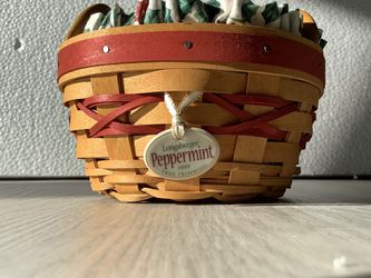 Longaberger Miniature Peppermint Basket for Sale in Arlington,  VA