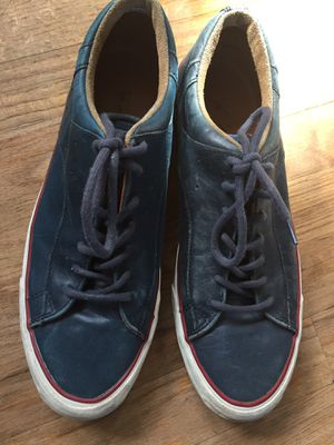 Converse Jack Purcell men size 10 blue leather sneakers shoes for Sale in Lakewood Township, NJ