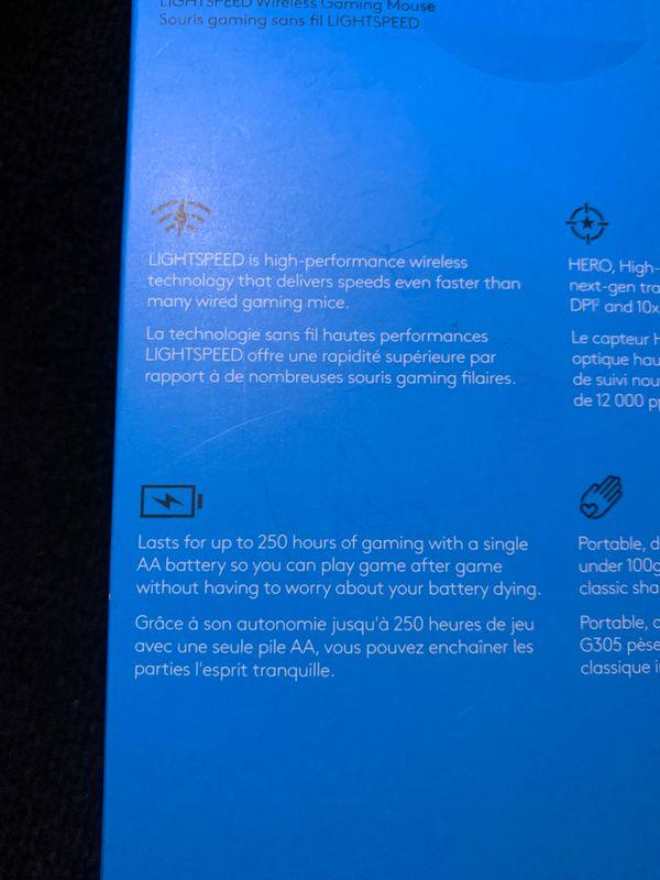 LIGHTSPEED wireless gaming mouse- logitech G305
