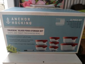 Anchor Hocking 15pc glass storage containers for Sale in Columbus, OH