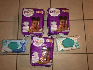 Baby diapers and pamper wipes for Sale in DeSoto, TX
