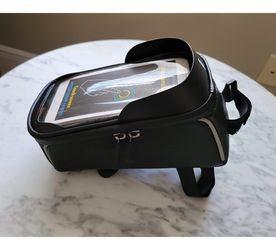 Bike Phone Bag for Top Frame Tube Accessory Pouch Fits Phone Up To 6.5 for Sale in Cape Coral,  FL