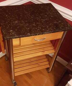 Kitchen Island with Granite Top for Sale in Raleigh, NC