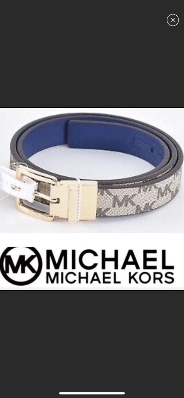 NWT MICHAEL Michael Kors Reversible Twist Belt