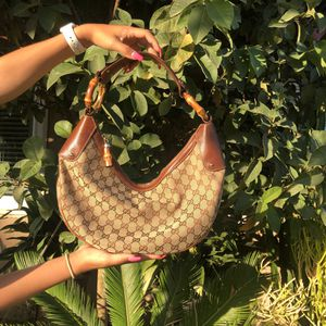Vintage Gucci Bamboo Crescent Bag for Sale in Mission Viejo, CA