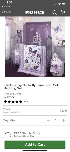 Baby girl crib set for Sale in Bakersfield, CA