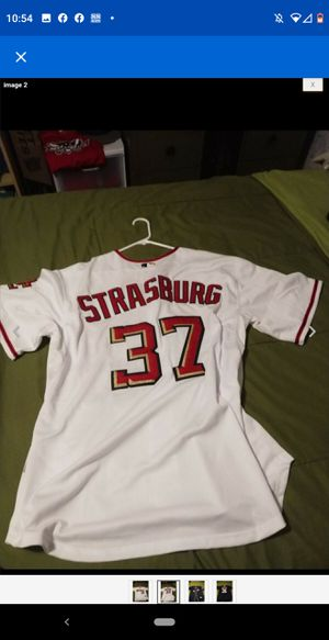 Authentic majestic Stephen Strasburg jersey Size 54 for Sale in Falls Church, VA