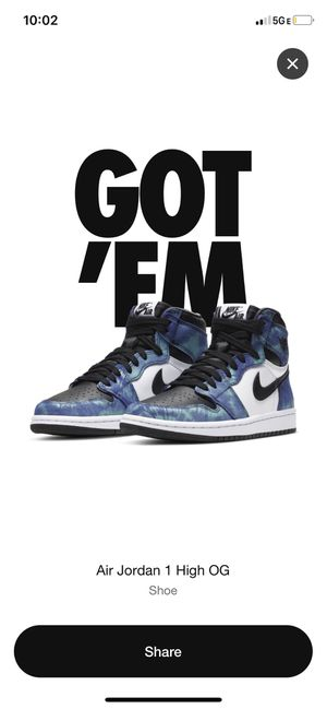 Nike air Jordan 1 Tie-dyes (Size 6W) for Sale in Miami, FL