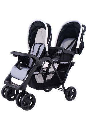Costzon Foldable Double Stroller Baby Infant Pushchair Travel Jogger w/Storage Basket for Sale in Pleasant Hill, CA