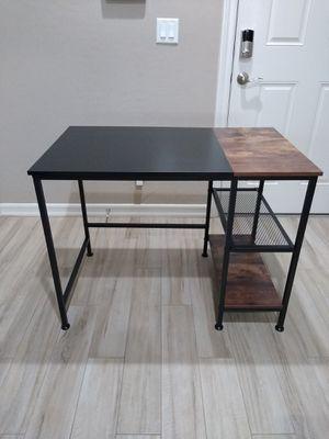 "PENDING PICK UP* NEW - Desk, Computer Desk, Laptop Desk with Shelves 40""L x 23.5""W x 30""H for Sale in Las Vegas, NV"