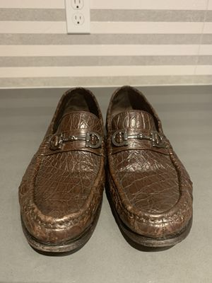 salvatore ferragamo mens crocodile shoes Retail $1495 for Sale in Reston, VA