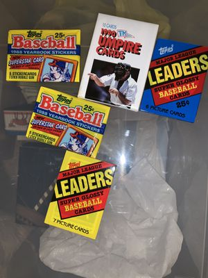 Sealed baseball card packs for Sale in Stoughton, MA
