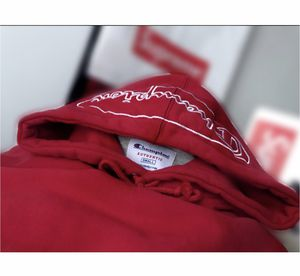 Small Red Champion X Supreme hoodie for Sale in West Springfield, VA