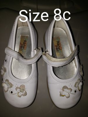 White dress up shoes size 8c for Sale in Renton, WA
